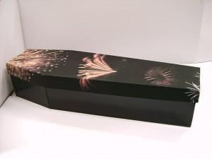 cercueil en carton noir