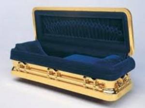 intérieur d'un cercueil