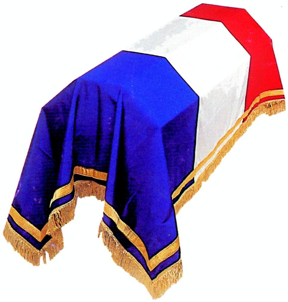 drap mortuaire drapeau français